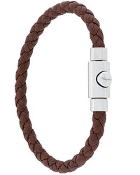 Salvatore Ferragamo Woven Press Clasp Bracelet