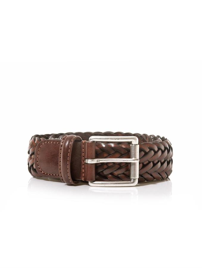 brown woven leather belt andersons andersons woven