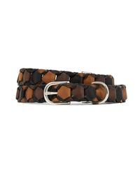 Rag & Bone Arrow Woven Leather Belt