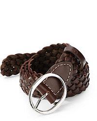 Ben Sherman Woven Leather Belt
