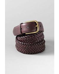Lands' End Braid Stretch Leather Belt