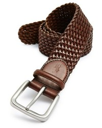 Braided leather belt medium 265164
