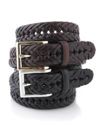 Club Room Belt Leather Braided Belt