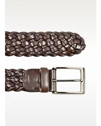 Forzieri Dark Brown Woven Leather Belt
