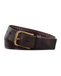 Robert Graham Horton Braided Leather Belt Brown