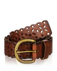 Roxy relax leather belt brown leather medium 203860