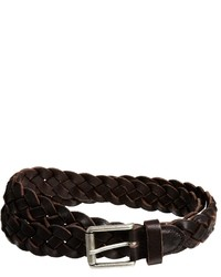 Selected Raw Brogue Leather Belt Brown