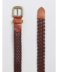Topman Tan Plaited Belt