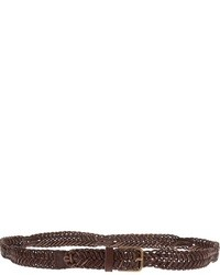 Woven leather belt medium 27799