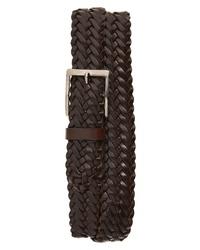 Mezlan Woven Leather Belt