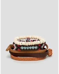 Dark Brown Woven Leather Bracelet
