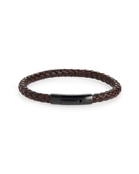 Nordstrom Men's Shop Braided Leather Id Bracelet