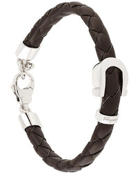 Salvatore Ferragamo Woven Gancino Bracelet