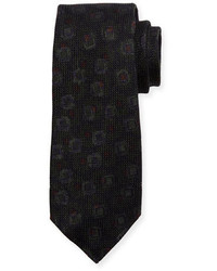 Kiton Grenadine Woven Silk Tie Brown
