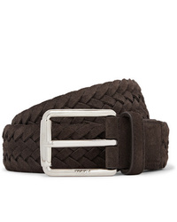 Tod's 35cm Brown Woven Suede Belt