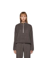 Gil Rodriguez Brown Terry Diana Half Zip Sweatshirt