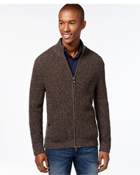 Dark Brown Zip Sweaters for Men | Men's Fashion
