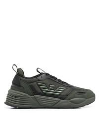 Emporio Armani Logo Embossed Sneakers