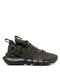 Neil Barrett Mesh Panelled Lace Up Sneakers