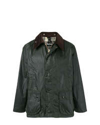 Barbour Contrast Collar Waxed Coat