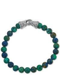Esquire Jewelry Reconstituted Azurite Malachite Beaded Bracelet In Sterling Silver Only At Macys