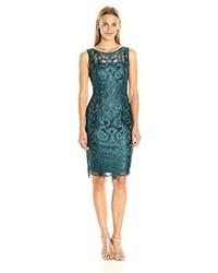 Dark Green Beaded Party Dress