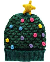 Boohoo Katie Popcorn Knit Christmas Tree Beanie