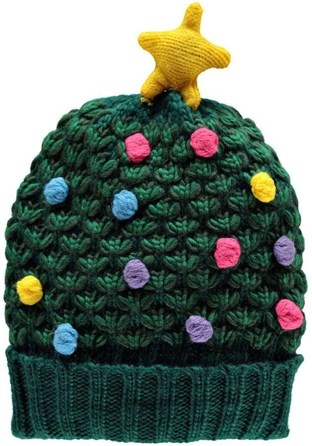 ... Boohoo Katie Popcorn Knit Christmas Tree Beanie ... 1ed30b20226