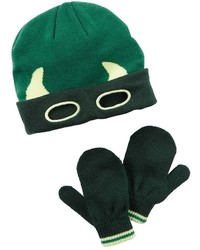 Carter's Toddler Boy Knit Embroidered Hat Mittens Set