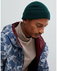 f269ea65b4665c Men's Dark Green Beanies by ASOS DESIGN   Men's Fashion   Lookastic.com
