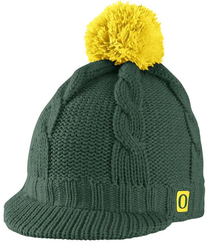 5555de2f136b2 ... Oregon Nike Ducks Cable Knit Beanie ...