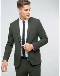 ASOS DESIGN Asos Skinny Suit Jacket In Khaki