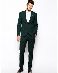Asos Brand Slim Fit Suit Jacket In Dark Green | Where to buy & how ...