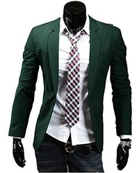 Easy Stylish Casual Slim Fit One Button Suit Pop Business Blazer Coat Jacket