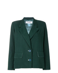 Yves Saint Laurent Vintage Flap Pockets Boxy Blazer