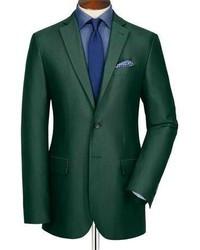 Charles Tyrwhitt Green Oxford Unstructured Slim Fit Jacket