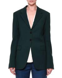 Jil Sander Vermeer Gabardine Two Button Jacket