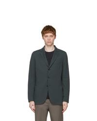 Loro Piana Navy Silk Sweater Blazer