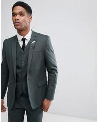 ASOS DESIGN Skinny Suit Jacket In Forest Green