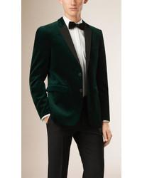 Burberry Slim Fit Velvet Half Canvas Tuxedo Jacket