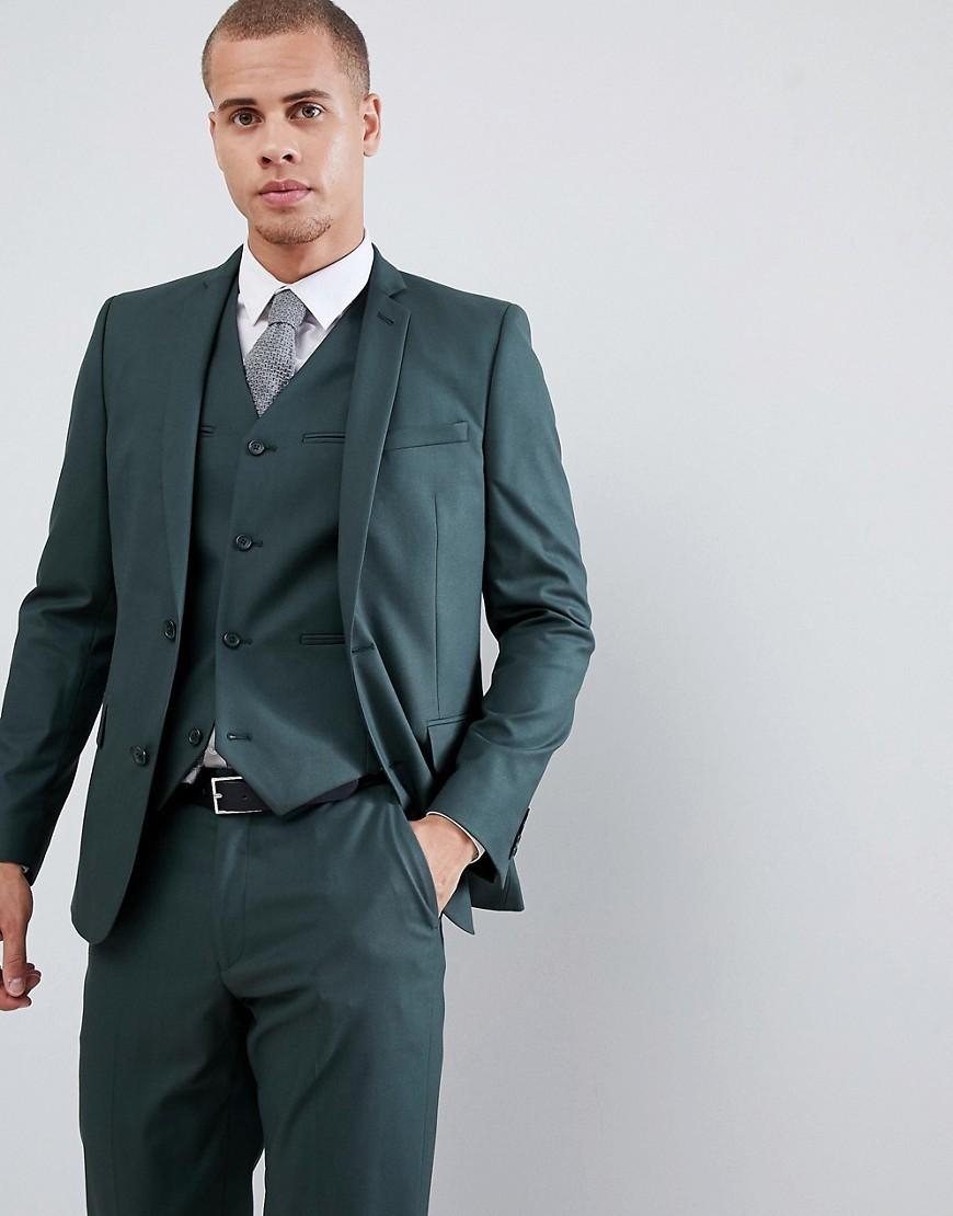 05b67643077cfd ASOS DESIGN Slim Suit Jacket In Forest Green, $52 | Asos | Lookastic.com