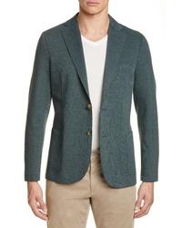Eleventy Trim Fit Raw Edge Stretch Cotton Blend Sport Coat