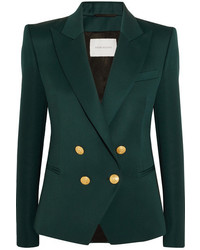 Wool twill blazer emerald medium 5258997