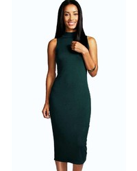 Boohoo Billie Turtle Neck Sleeveless Midi Bodycon Dress