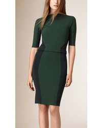 Burberry Colour Block Panelled Bodycon Dress