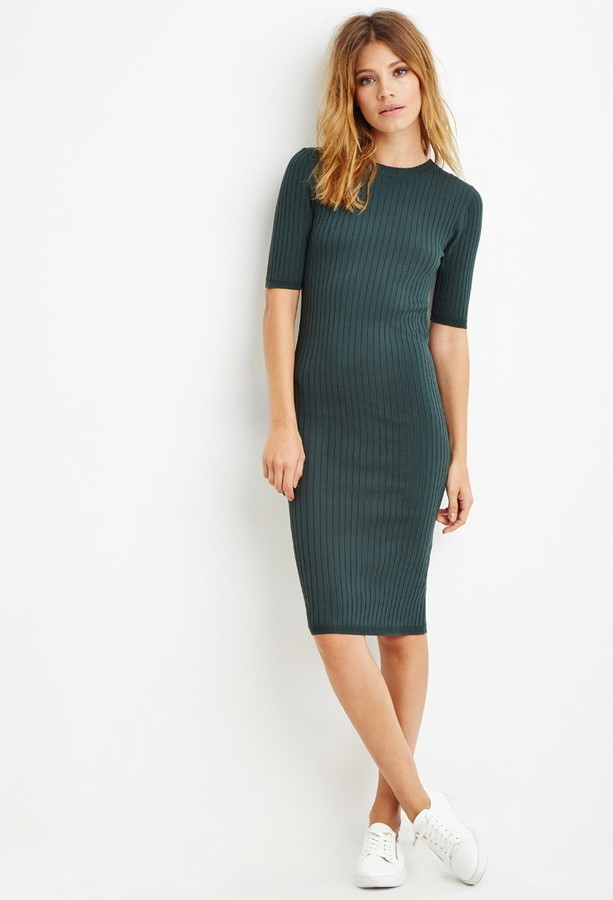 ... Forever 21 Contemporary Ribbed Knit Bodycon Dress ... cb640f9cd