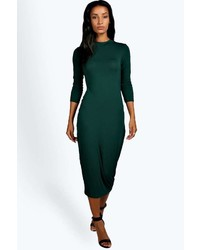 Boohoo Lola Turtle Neck Midi Dress