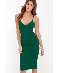 LuLu*s Lulus Dont Tell Em Black Bodycon Midi Dress