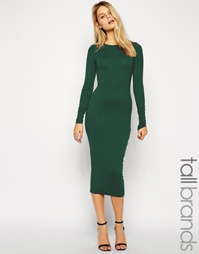 92725b92bf7d Taller Than Your Average Ttya Long Sleeve Midi Dress Green 94