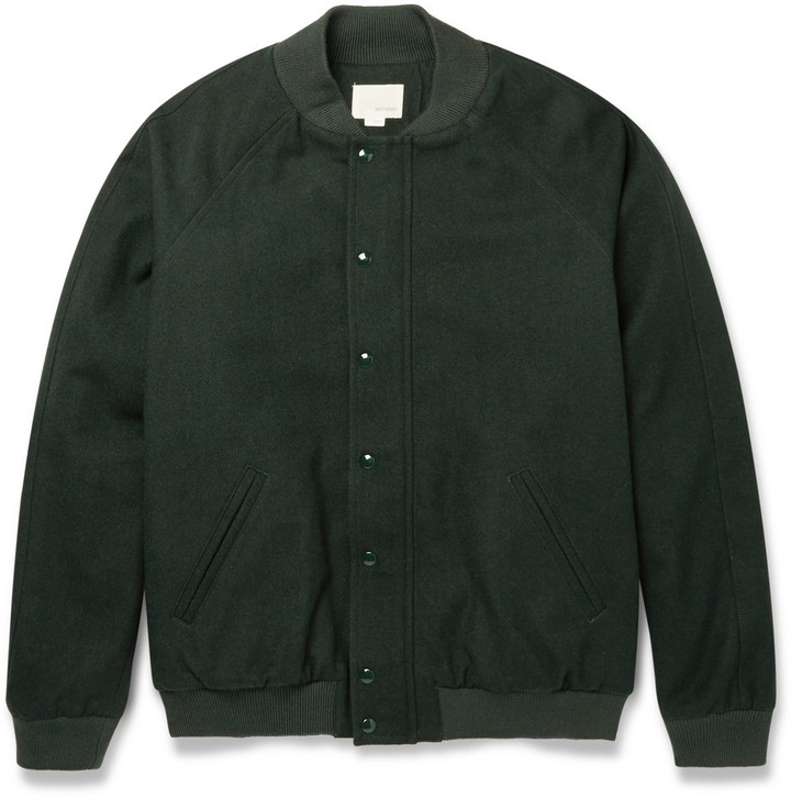Band Of Outsiders Brushed Wool And Cotton Blend Bomber Jacket ...